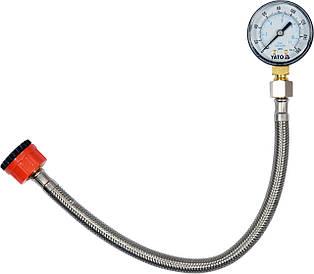 Манометр для измерения давления воды со шлангом YATO YT-24790