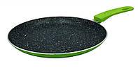 Сковорода блинная Con Brio Eco Granite зеленая d23 см h1,8 см алюминий с гранитным покрытием (2324CBзел)