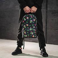Городской рюкзак молодежный с марихуаны черный, фото 1