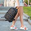 Женский городской рюкзак с принтом бананов черный