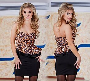 Д3084 Платье с двойной баской, фото 2