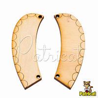Воротник деревянный округлый деталь ожерелья 8х2,5 см