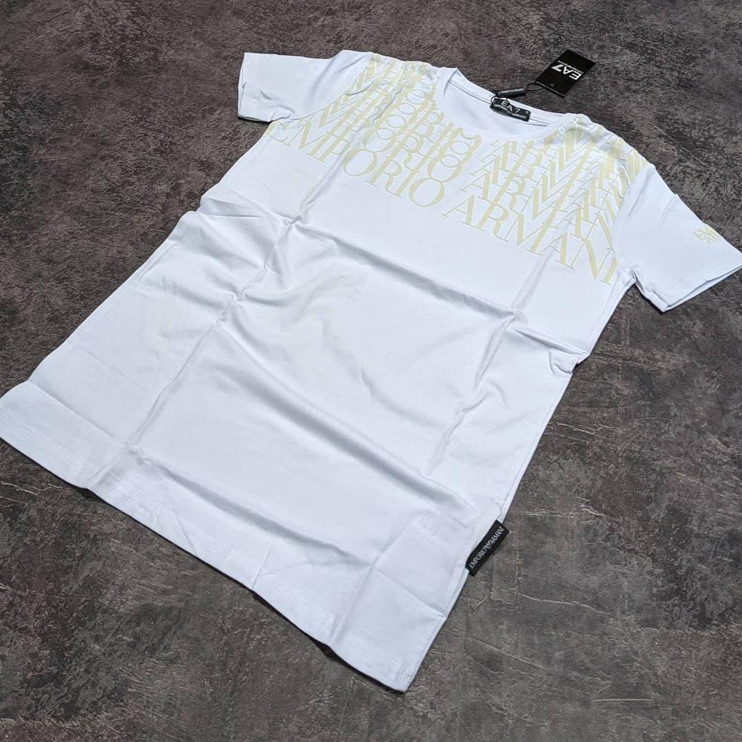 Мужская футболка Emporio Armani CK1758 белая