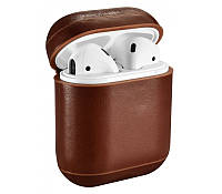 Кожаный чехол для AirPods Vintage Leather Case Brown, КОД: 370937