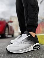 Кроссовки белые с черным подошве Air Max весна