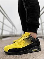 Кроссовки мужские желтые с черным Air Max весна
