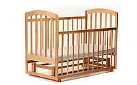 Кроватка деревянная маятник LAMA ECO 0153, КОД: 2412180