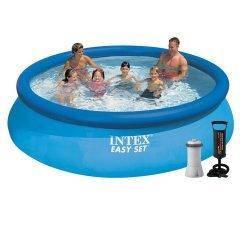 Надувной бассейн Intex 28132 - 3, 366 х 76 см (2 006 л/ч, подстилка, тент, насос)