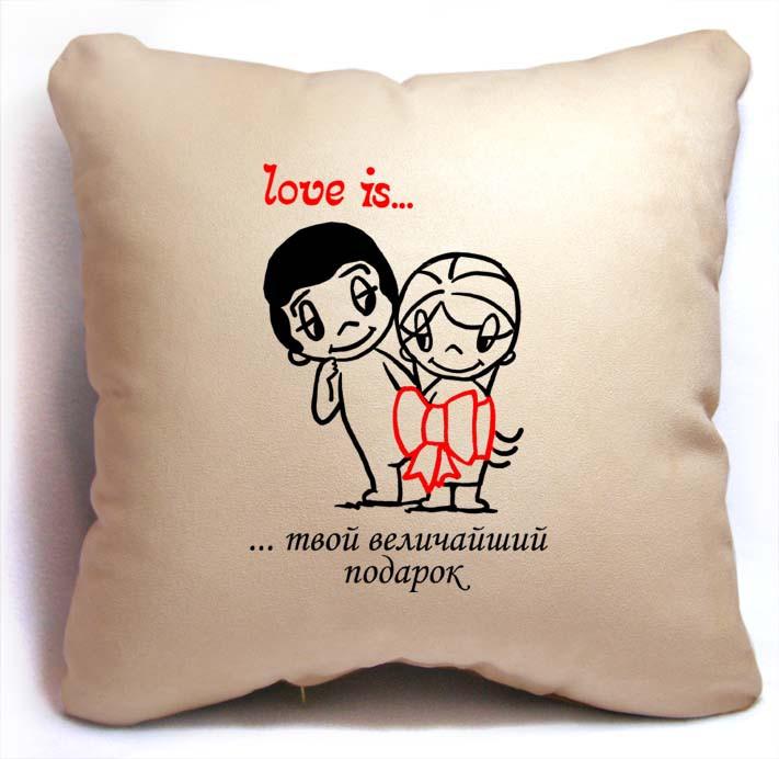"""ПОДУШКА ИЗ СЕРИИ """"LOVE IS..."""" 10"""
