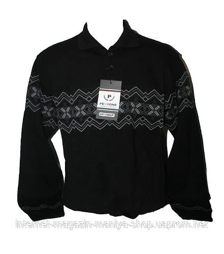 Мужской свитер тёплый батал