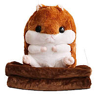 Плед Хомяк 3 в 1 мягкая игрушка, подушка