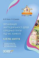 Організація життєдіяльності дітей середньої групи під час канікул 5-й рік життя Основа М.В. Педан, КОД: