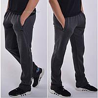 Утепленные мужские спортивные штаны ST-BRAND / Размеры:46-56 / Трикотаж трехнитка / темно-серые