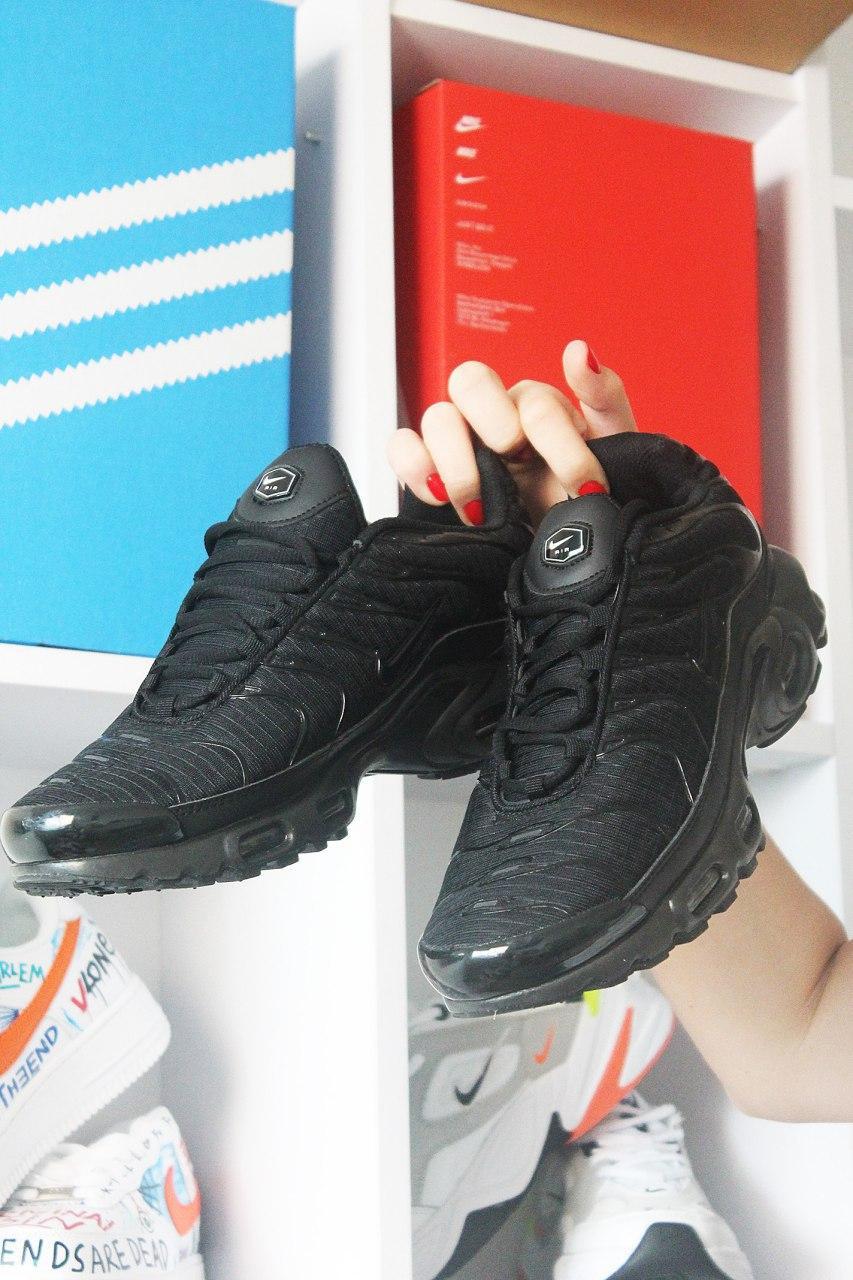 Мужские кроссовки Nike Air Max TN Plus Black, мужские кроссовки найк аир макс тн плюс