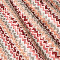 Декоративна тканина зигзаги міссоні рожеві білі Туреччина 88005v3, фото 1