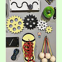 Развивающая доска размер 50*60 Бизиборд для детей 40 элементов!, фото 2