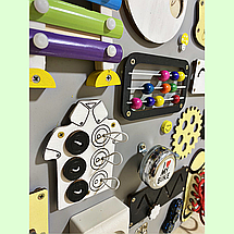 Развивающая доска размер 50*60 Бизиборд для детей 40 элементов!, фото 3