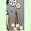 Развивающая доска размер 50*60 Бизиборд для детей 40 элементов!, фото 4