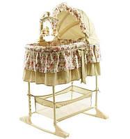 Кроватка-колыбель Coneco Nana, цвет бежевый