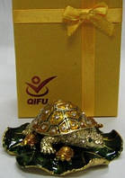 Оригинальная шкатулка сувенир из Китая черепаха 7 видов