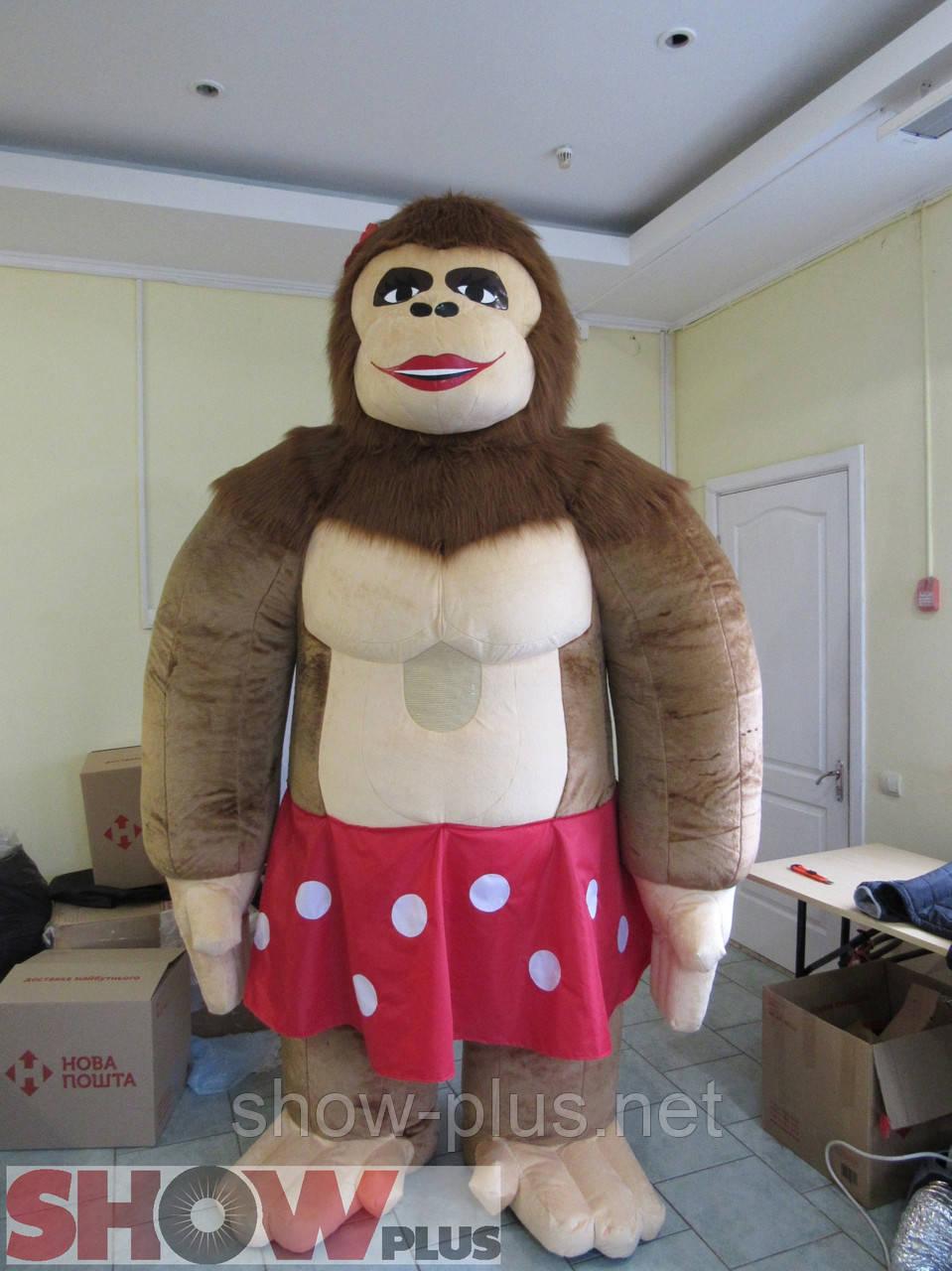 Надувной костюм (пневмокостюм) Горила Лиза, фото 1