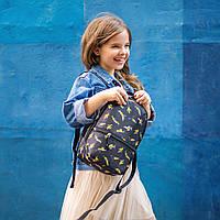 Рюкзак детский для прогулок с ярким принтом бананы черный, фото 1
