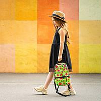 Рюкзак детский для прогулок с ярким принтом кавуны зеленый