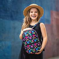 Рюкзак детский для прогулок с ярким принтом Tiktok черный