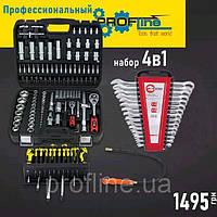 Набор инструмента за 1499 грн (Набор 108 ед.PROFLINE +Набор отверток 18 шт +Набор ключей 12 ед+магнит)