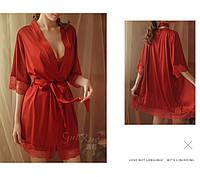 Атласный халат с пижамой