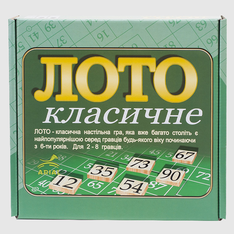 Настільна гра Arial Лото класичне (4820059910046)