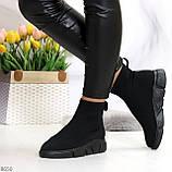 Ультра модные и мега удобные черные текстильные кроссовки кеды носки, фото 4
