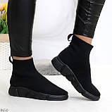 Ультра модные и мега удобные черные текстильные кроссовки кеды носки, фото 5
