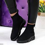 Ультра модные и мега удобные черные текстильные кроссовки кеды носки, фото 7
