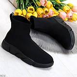Ультра модные и мега удобные черные текстильные кроссовки кеды носки, фото 8