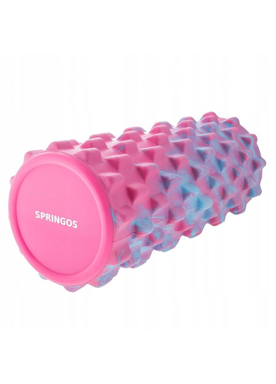 Массажный ролик (валик, роллер, ролл) Springos Mix Color 33 x 14 см FR0010 для йоги и фитнеса