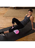 Массажный ролик (валик, роллер, ролл) Springos Mix Color 33 x 14 см FR0010 для йоги и фитнеса, фото 5