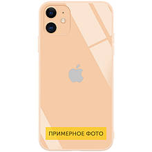 "TPU+Glass чехол GLOSSY Logo Full camera (opp) для Apple iPhone 6/6s plus (5.5"") Персиковый"