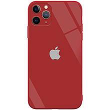 "TPU+Glass чехол GLOSSY Logo Full camera (opp) для Apple iPhone 6/6s plus (5.5"") Красный"