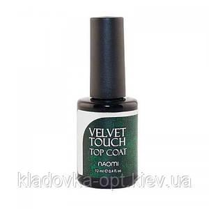 Топ оксамитовий для гель-лаку Naomi Velvet Touch, 12 мл