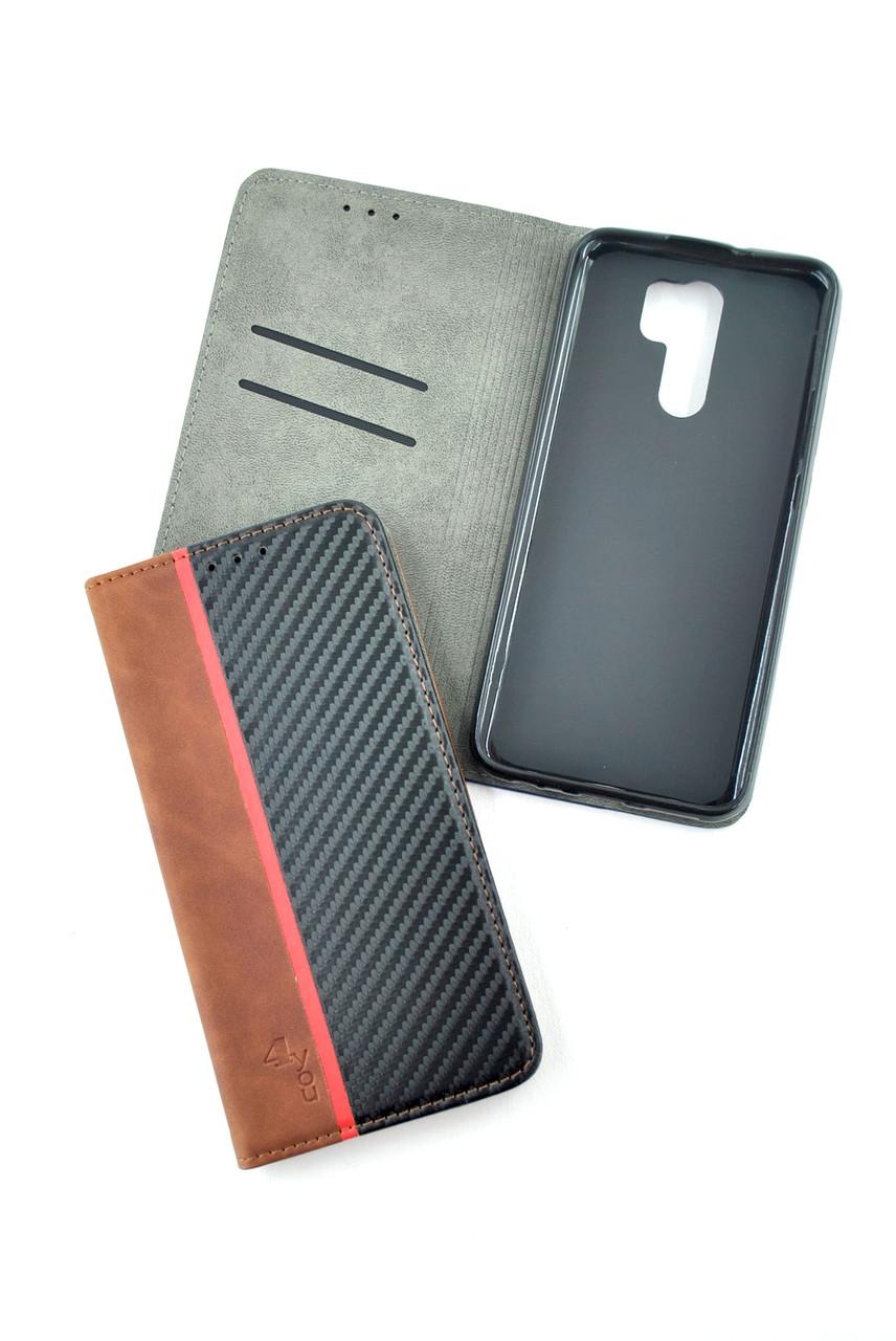 Чехол-книжка для телефона Huawei Y5P (2020) Carbon Dark brown/black (4you)