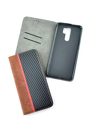Чехол-книжка для телефона Huawei Y5P (2020) Carbon Dark brown/black (4you), фото 2