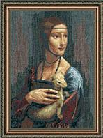 Набор для вышивки крестиком По мотивам Леонардо да Винчи Дама с горностаем 28x41 см Чарівна Мить