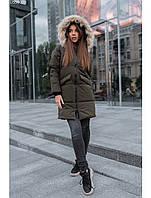 Женская зимняя куртка Staff joy khaki