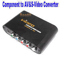 Конвертер Component Video YPbPr в Composite AV or S-video + Adapter