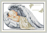 Спящий ангел K777 Метрика Набор для вышивания крестиком с печатью на ткани 14ст