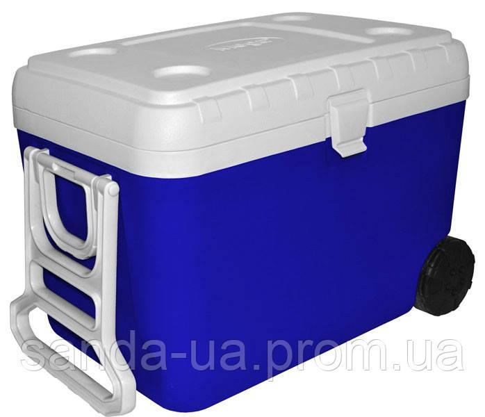 Изотермический контейнер Mega 48л красный и синий