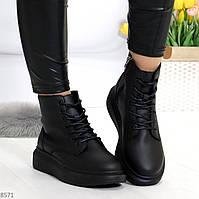 Повседневные черные женские ботинки в спортивном стиле на флисе, фото 1