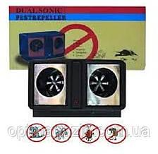 Ультразвуковий електронний відлякувач Dual sonic pest repeller від гризунів і комах, фото 2