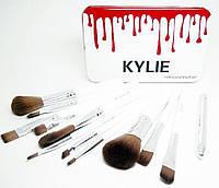 Профессиональные кисточки для макияжа Kylie Professional Brush Set 12 шт. | Кисти под макияж